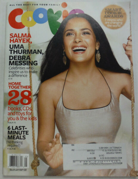 Cookie Magazine Salma Hayek & Uma Thurman Debra Messing May 2009 051815R