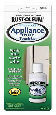 RUST-OLEUM 203000 Appliance Touch Up Paint,White,0.6 oz.