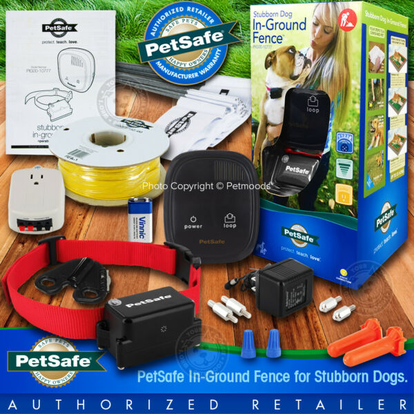PIG00 10777 PetSafe Stubborn Dog In Ground Fence Transmitter and Collar System $214.95