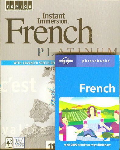 Instant Immersion FRENCH Language 8 Audio CDs amp; Phrasebook listen in your car $19.99