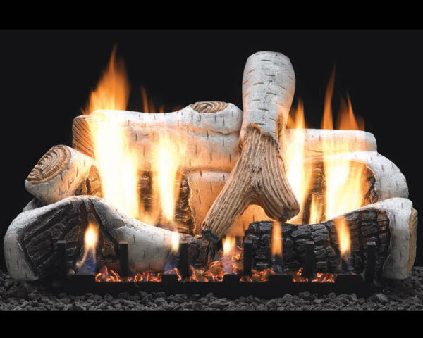 Birch Vent-Free Gas Log Set Optional REMOTE 18