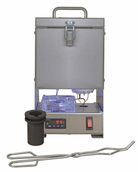 30 OZ GOLD QUIKMELT PRO TABLETOP ELECTRIC MELTING FURNACE 2200F SILVER COPPER