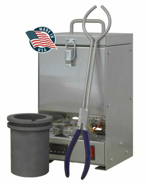 100 OZ GOLD QUIKMELT PRO TABLETOP ELECTRIC MELTING FURNACE 2200F SILVER COPPER
