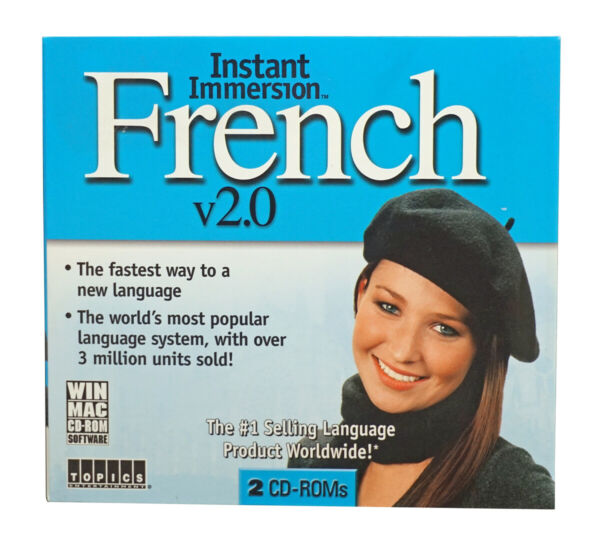 Instant Immersion LEARN how to Speak BEGINNER FRENCH Language Win Mac CD $8.99