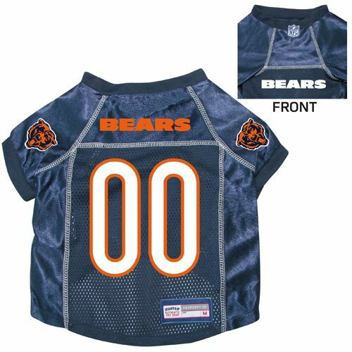 NEW CHICAGO BEARS PET DOG PREMIUM NFL JERSEY wNAME TAG ALL SIZES