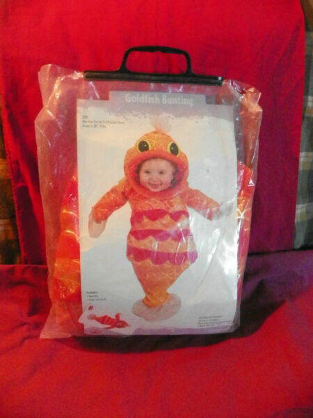 EASTER UNLIMITED GOLDFISH BUNTING HALLOWEEN COSTUME INFANT BOYS GIRLS SZ 28quot;