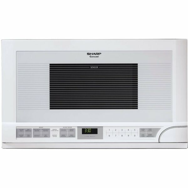 Sharp R-1211 1-1/2-Cubic Feet 1100-Watt Over-the-Counter Microwave, White New