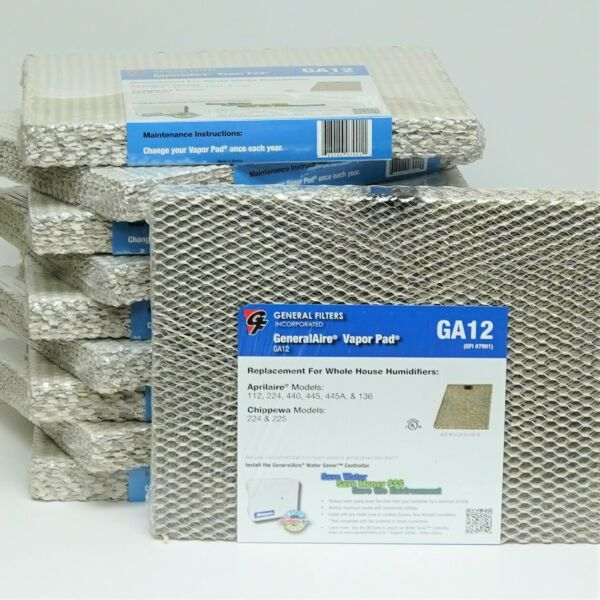 12-10 10 PACK of #12 A12 for Aprilaire 224 440 445 Furnace Humidifier Pad Filter