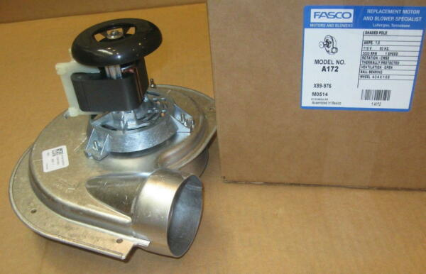 Fasco A172 Furnace Draft Inducer Motor for Heil 1010975P 7002-2792 7002-2633