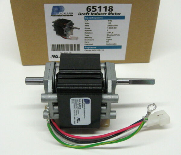 65118 Furnace Draft Inducer Furnace Motor for Carrier HC21ZE118B J238-150-15315