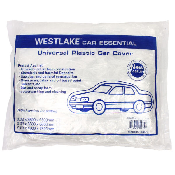 Clear Plastic Disposable Car Cover Temporary Universal Garage Rain Dust 1 Pack $12.95