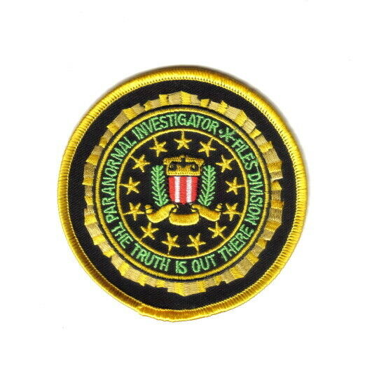 The X Files TV Show Paranormal Investigator Logo Patch NEW UNUSED