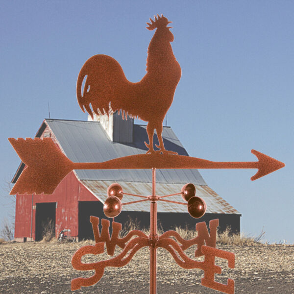 Traditional Classic Barn Rooster Weathervane with Roof Mount Chicken Vane $59.95