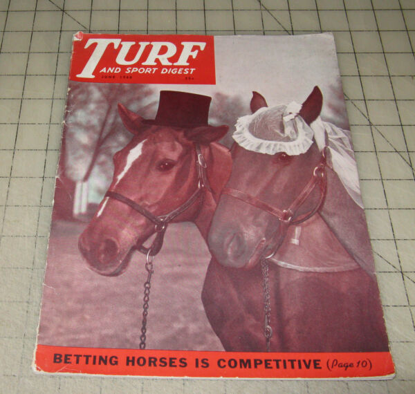 TURF And Sport Digest (June 1948) Horse Racing Good+ Condition Magazine