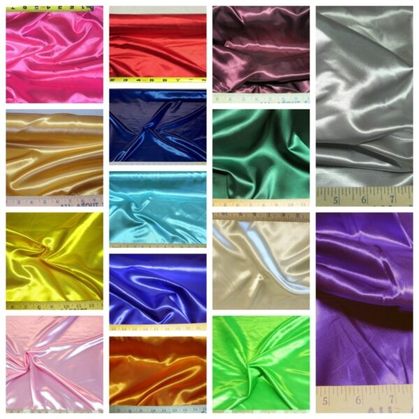 Discount Fabric Choose Your Color 65 inches wide Satin SA