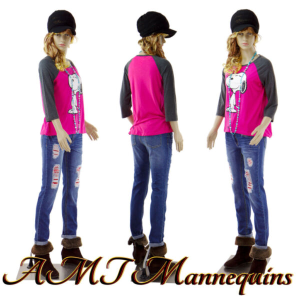 Female Mannequin realistic looking Full body + Metal stand Teen Girl F14+2wigs