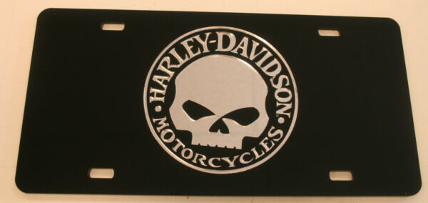 harley davidson motorcycle skull Willie G license plate tag sign Cycle bike hd $29.99