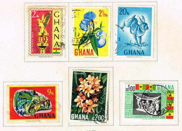Ghana African country Produce set 1967