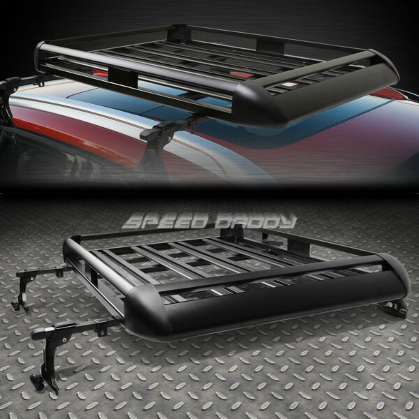 50quot;X 38quot;ALUMINUM ROOF RACK SUV TOP CARGO LUGGAGE CARRIER BASKETCROSSBAR BLACK $100.88