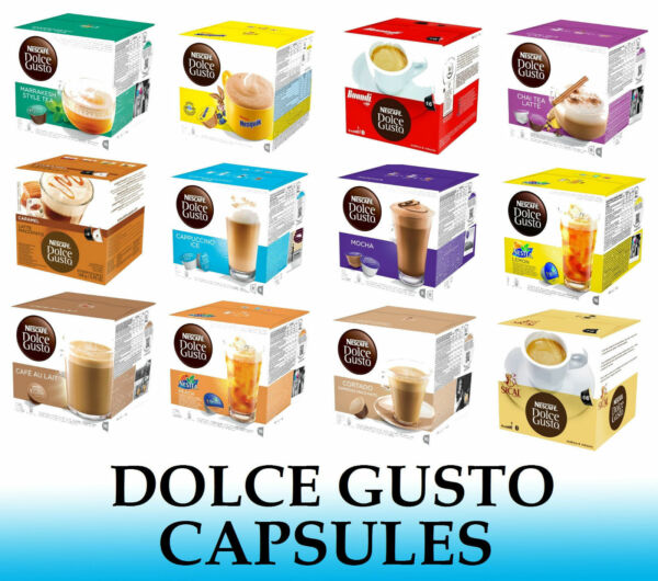 NESCAFE DOLCE GUSTO CAPSULES SOLD LOOSE 2 to 48 Capsules Many Flavors