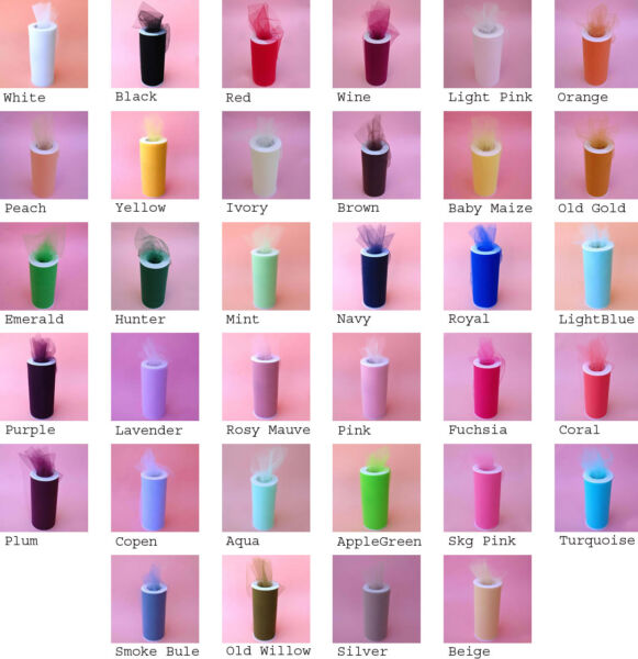 6quot;X100YDS Tulle Spool Wedding Bridal Party Favor Decoration Tutu Craft