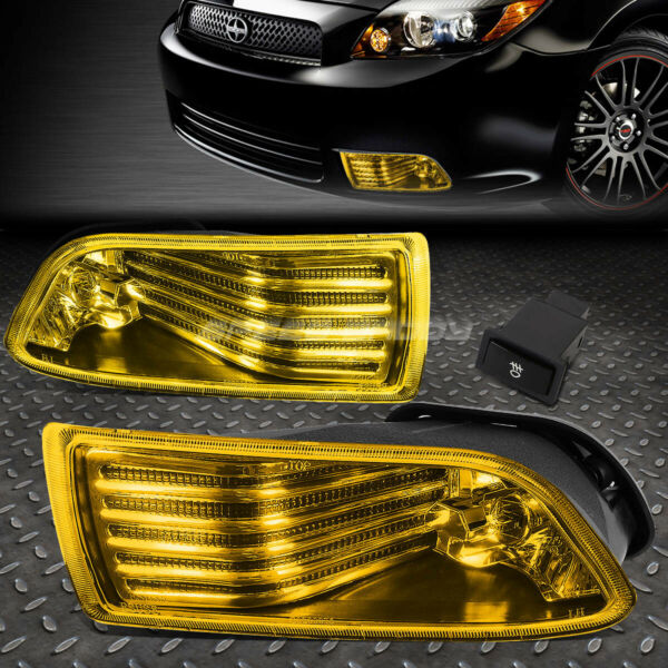 FOR 05 10 SCION TC AMBER LENS BUMPER DRIVING FOG LIGHT REPLACEMENT LAMP W SWITCH $38.88