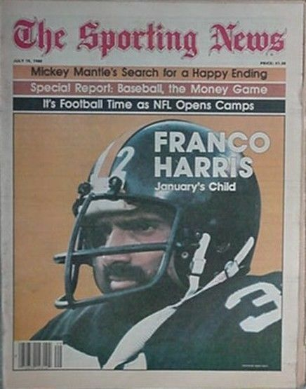 1980 THE SPORTING NEWS w FRANCO HARRIS (PITTSBURGH STEELERS) COVER