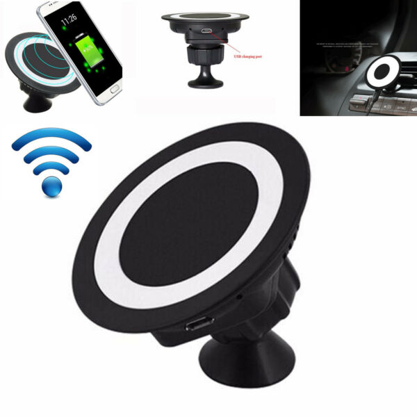 1pc Wireless Fast Charging Charger Dock Stand Holder Station Pad For Cell Phone