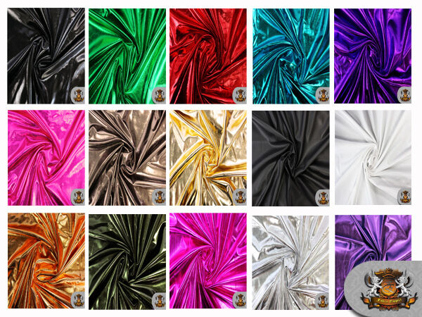 Spandex Metallic Fabric 60quot; W Sold by the yard