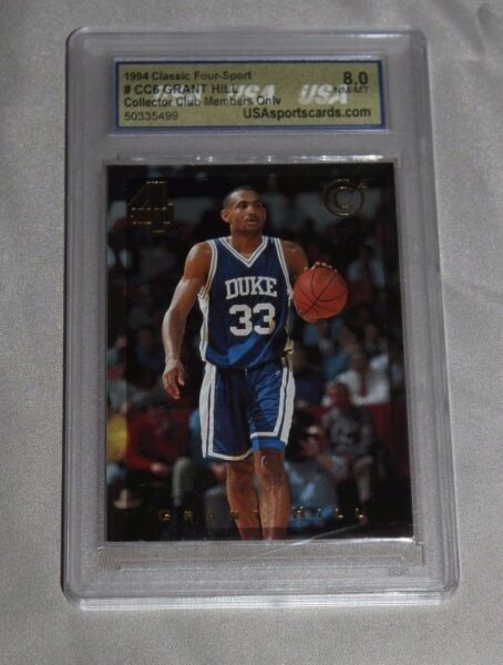 1994 Classic Four-Sport #CC6 Grant Hill Collectors Club Mem Only 8.0 Mint (USA)