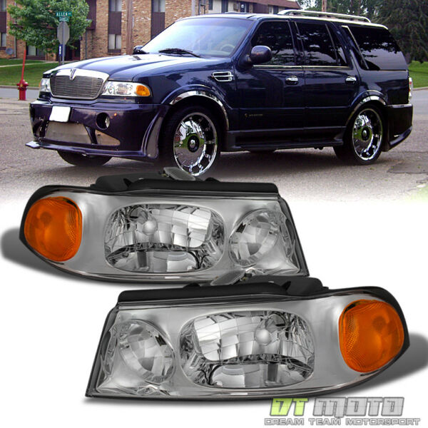 1998-2002 Lincoln Navigator Replacement Headlights Headlamps 98-02 Left+Right