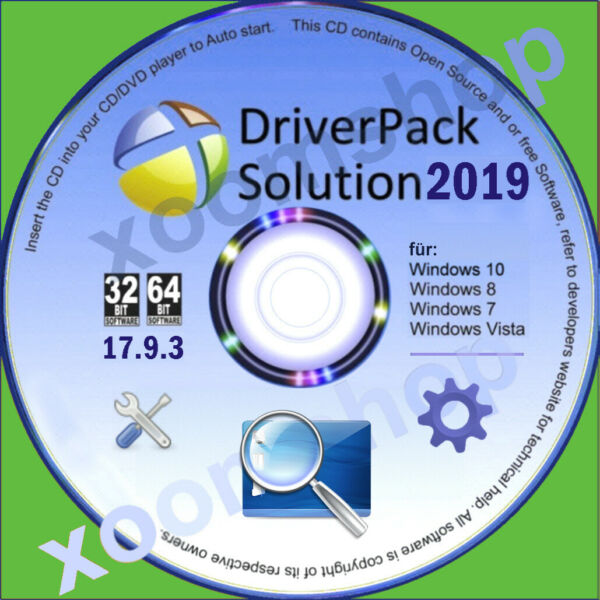 █ Universal Treiber CD DVD 2018 für PC Notebook Windows 10 / 8 - XP- Vista - W7