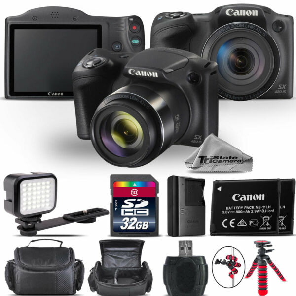 Canon PowerShot SX420 Digital Camera 20.0MP 42x Optical NFC / WiFi - 32GB Kit