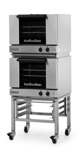 Moffat E22M3 2C Electric Double Convection Oven 3 Half Size Pan Mobile Stand