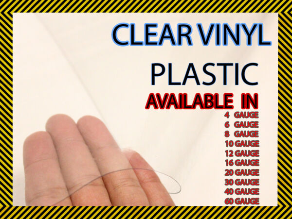 Clear Vinyl Plastic Fabric 54quot; Wide UV Resistant Sold By The Yard