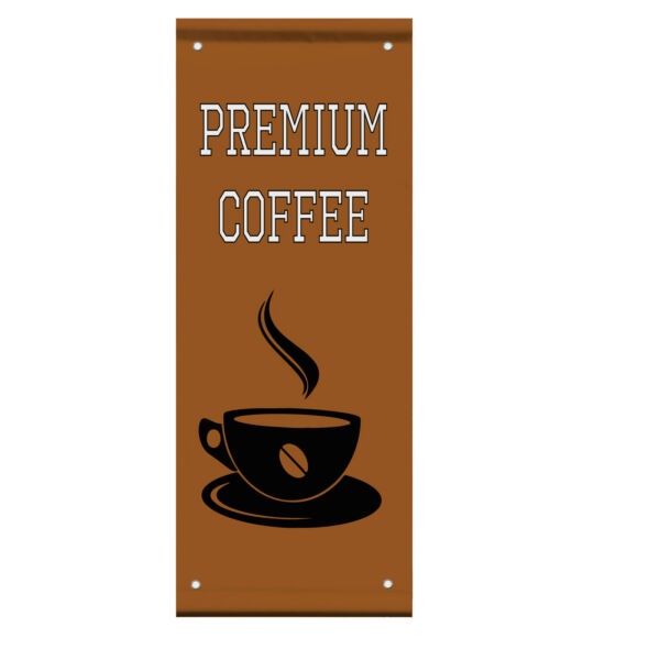 Premium Coffee Cafe Bar Restaurant Double Sided Vertical Pole Banner Sign