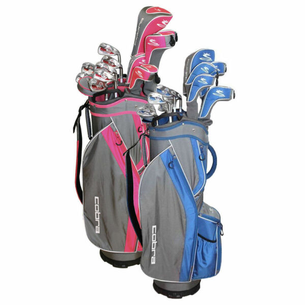 New Cobra Fly Z S Womens 8 pc Golf Club set Pink 8pc Driver Fwy Hyb Irons Putter