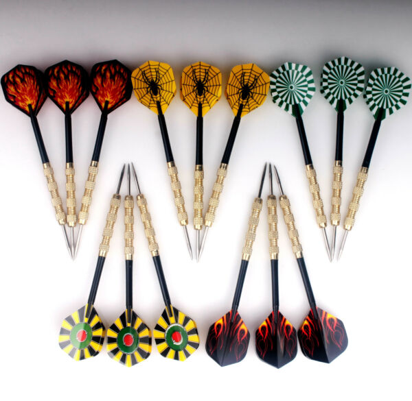 15 pcs 5 sets of Steel Tip Darts Metal Point Dart Replacement Dartboard Durable $10.99
