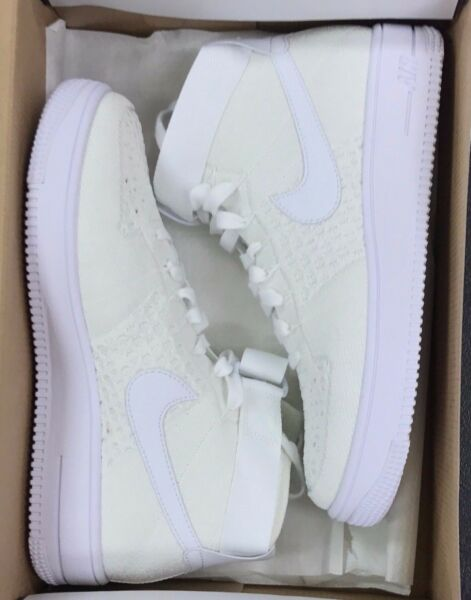 NIKE AF1 ULTRA FLYKNIT MID  White Air Force One 817420-102