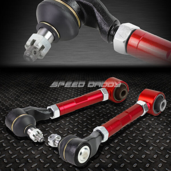 FOR 03 07 ACCORD TSX UC1 RED ADJUSTABLE BALL JOINT REAR SUSPENSION CAMBER KIT $50.95