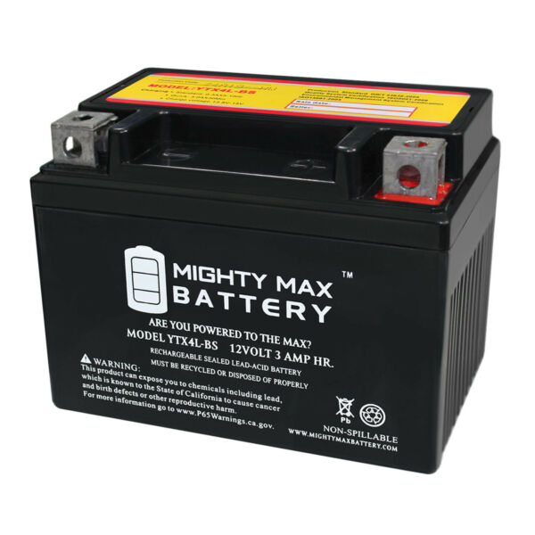 Mighty Max YTX4L-BS SLA Battery for ATV Quad Dirt / Pit Bike 50/70/110/125 CC