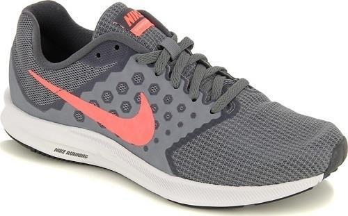 Women's NIKE DOWNSHIFTER 7 Gray+Pink Casual/Running Sneakers/Shoes NEW WIDE