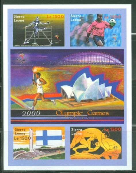 SIERRA  LEONE  IMPERF 2000 GREECE OLYMPIC GAMES SHEET SC#2285  MINT NH $39.95