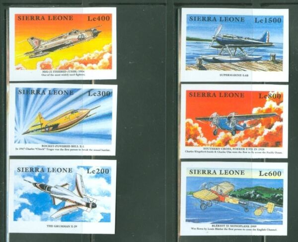 SIERRA  LEONE  IMPERF AIRPLANES SET  SC#216671   MINT NH $39.95