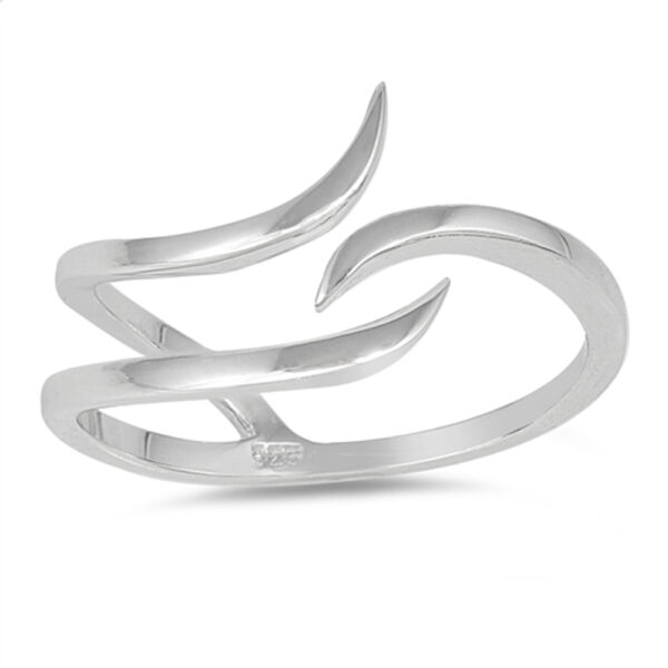 Open Wave Curve Adjustable Thumb Ring New .925 Sterling Silver Band Sizes 4-10