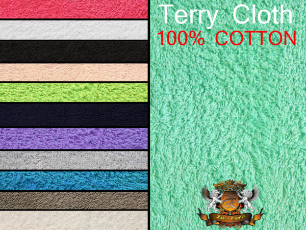 Terry Cloth Cotton Towel Fabrics 60quot; Wide 16 OZ Sold by the yard