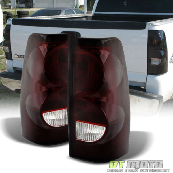Red Smoked 2003 2006 Chevy Silverado Replacement Aftermarket Tail Lights Lamps $82.99