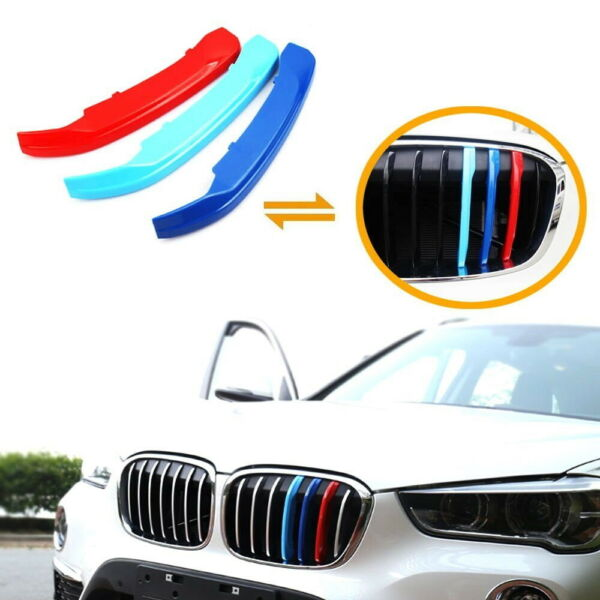 M-Sport 3-Color Grille Insert Trims For 16-up BMW F48 X1 Center Kidney Grill