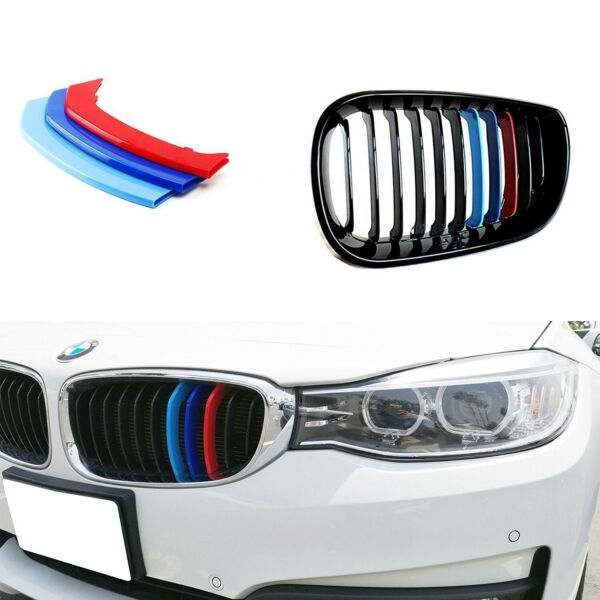 M-Sport 3-Color Grille Insert Trims For BMW F34 3 Series Gran Turismo 3GT Kidney