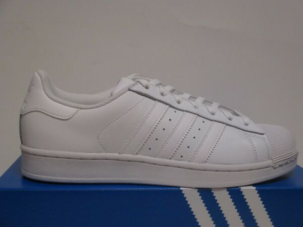 ADIDAS SUPERSTAR LOW (WHITE) { Shell Toe } MENS BASKETBALL